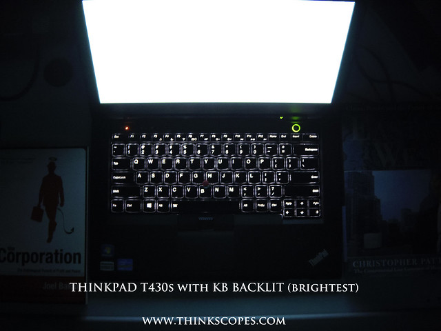 ThinkPad T430s with Precision keyboard (backlit on highest setting)