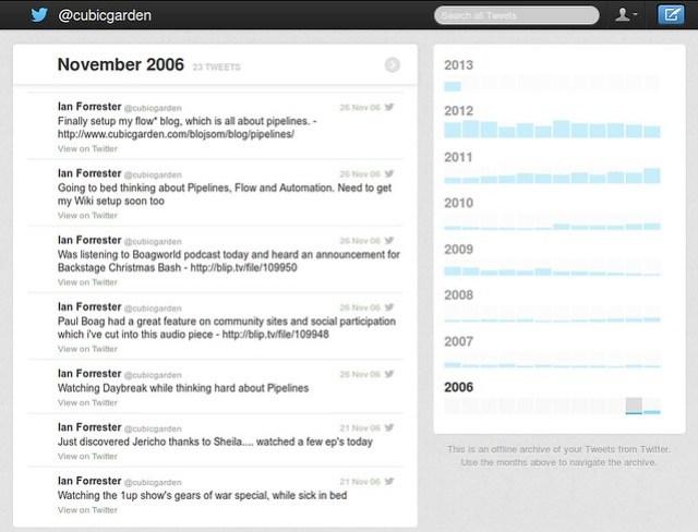 Twitter data dump