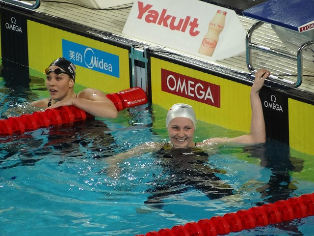 Melanie Costa Schmid World SC Champion in the Women's 400 free