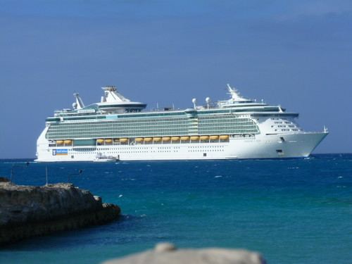 11-12-12 Cruise 4 - View of Cruise Ship from Coco Cay