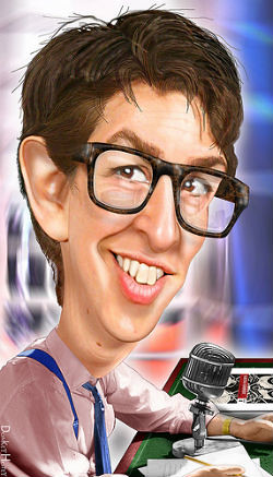 Rachel Maddow caricature by Donkey Hotey