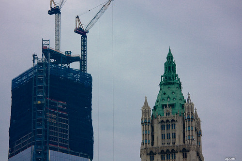 Old and New (Woolworth and Freedom Tower)