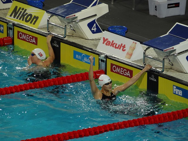Lu Ying after the Istanbul 2012 women's 50 fly