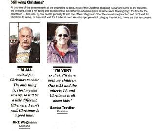 Rick and Sandy in Kenosha News - 12/22/12