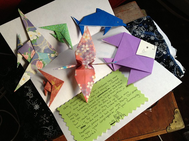 Origami Christmas Trees | Handmade paper ornaments, gift tag… | Flickr | 480x640