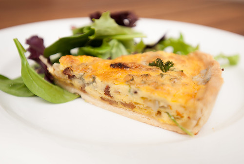 Caramelised Onion, Sun Dried Tomato & Blue Cheese Quiche