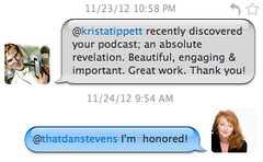 Krista's Twitter Exchange with Matthew Crawley (aka Dan Stevens) of Downton Abbey
