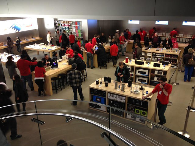 The 5th Avenue Apple store at 11 pm.  Wow.