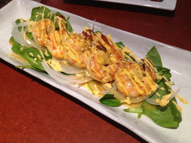 Spicy garlic shrimp - Izakaya Takonoki