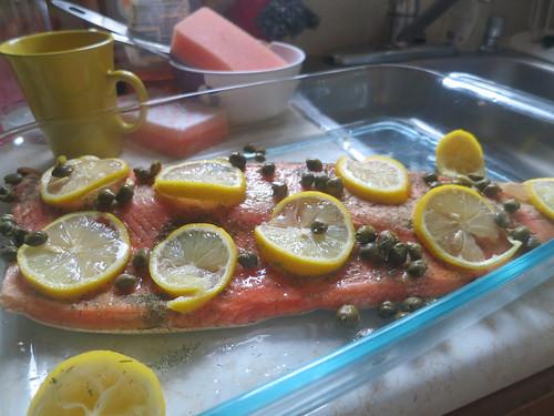 Baked lemon salmon