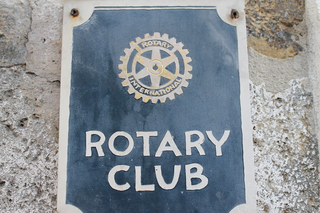 Rotary Club plaque