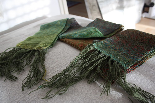 Autumny Scarves - almost done