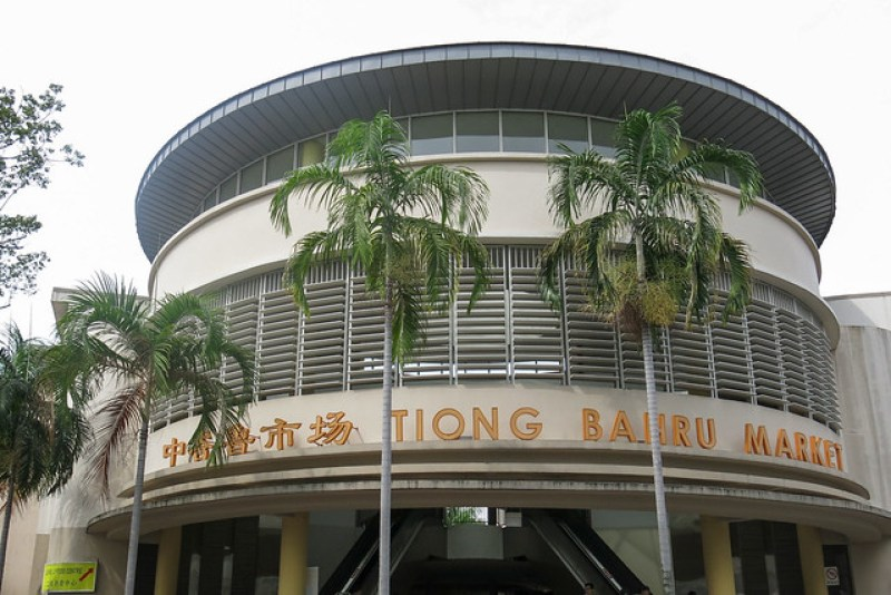 Outside Tiong Bahru Market
