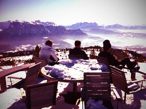 Winterpause am runden Tisch