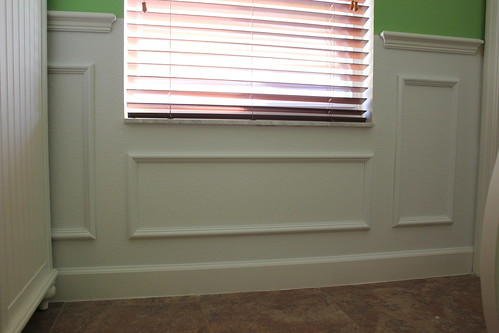 diy faux wainscotting