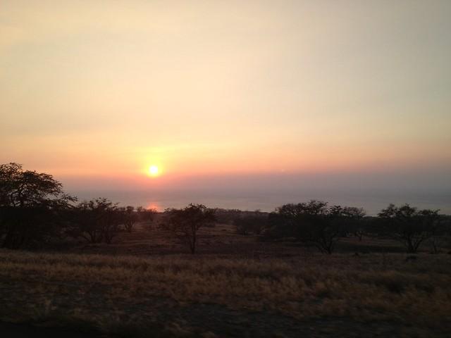 Queen Kaahumanu Highway sunset