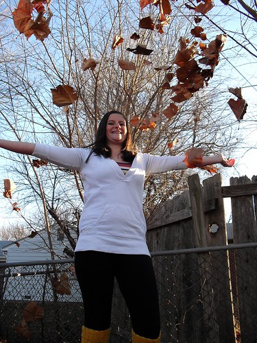 Sadie throwing leaves w/edit by chauntelensey