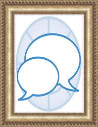 Framed image of speech bubbles