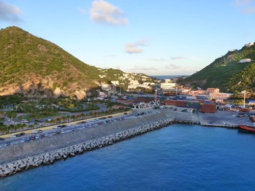 11-15-12 St. Maarten 35 - View of St. Maarten harbor from our cruise ship