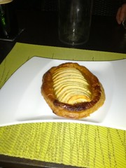 """Desert """"apple pastry flambe"""", Le Cyrilou in Montpellier, France"""