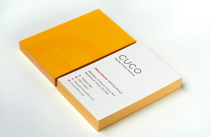 Letterpress business cards on embossed Colorplan duplex card stock (1)