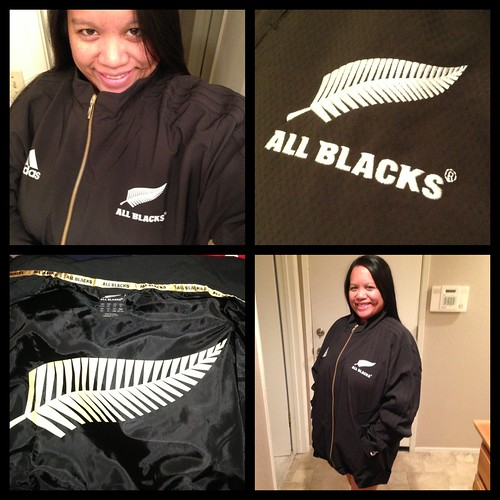 Me in my new All Blacks Anthem Jacket!!!