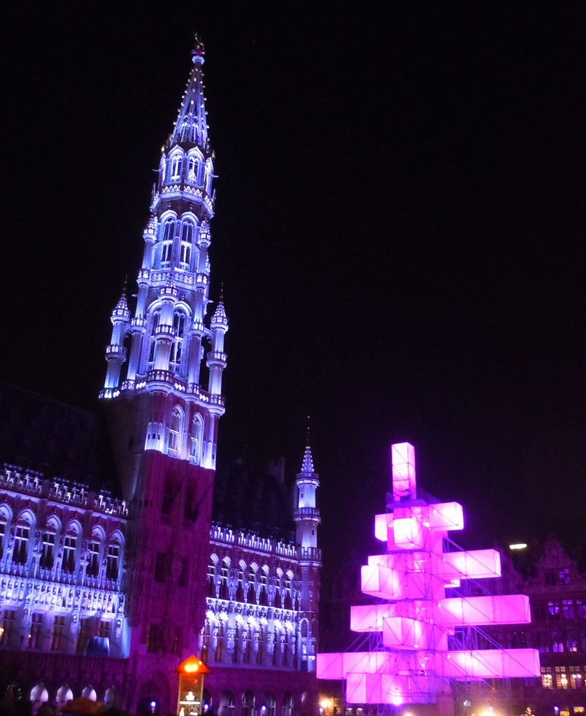 Brussels, Belgium - by Soleil bleu, city Xmas decorations - HHH challenge