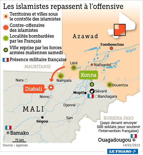Mapa Malí