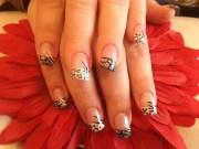 leopard acrylic nail design