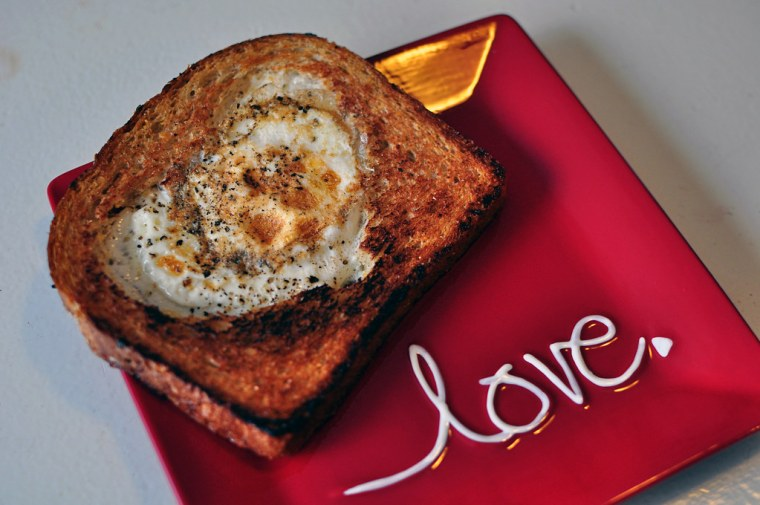 Valentine's Egg-in-a-Hole 2