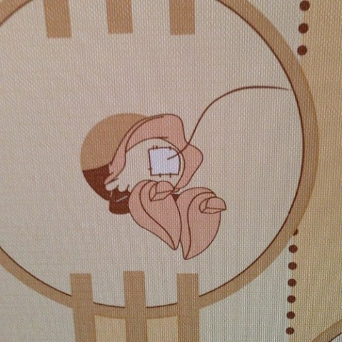 ミニーマウスルームの壁紙。