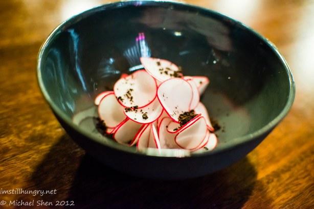 Momofuku Seiobo wagyu beef w/horseradish