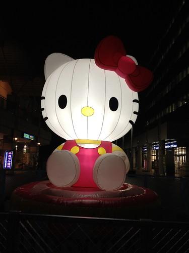 キティちゃんがお出迎え@サンリオピューロランド