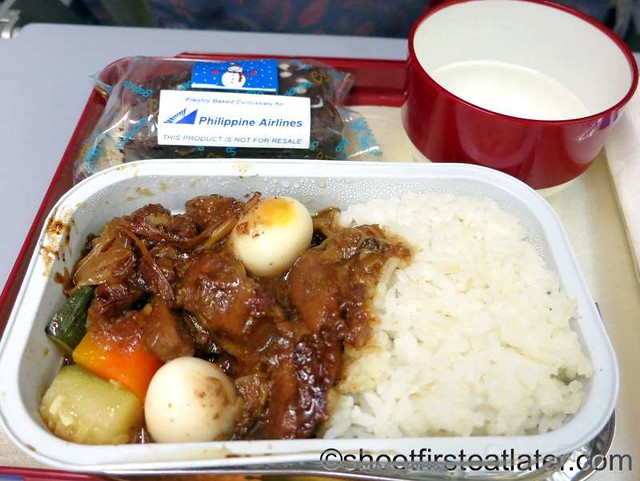 Philippine Airlines economy meals- pork paksiw