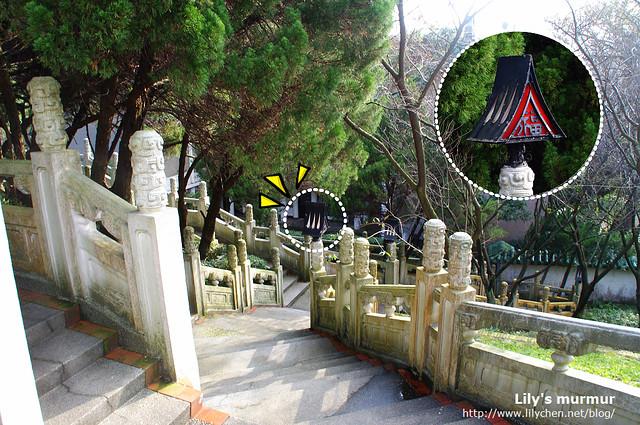 這麼蜿蜒的樓梯寫的是「壽」字,燈籠上寫的是「福」字,燈籠反而有點日本味。