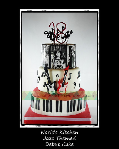 Norie's Kitchen - Jazz Themed Debut Cake by Norie's Kitchen