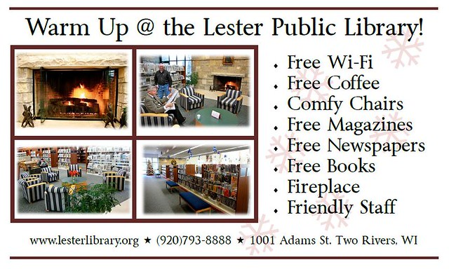 Warm Up @ the Lester Public Library!