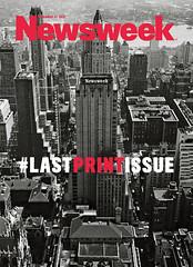 Newsweek Last Print Issue - Số báo Newsweek bản in cuối cùng, ra ngày Thứ hai 31-12-2012