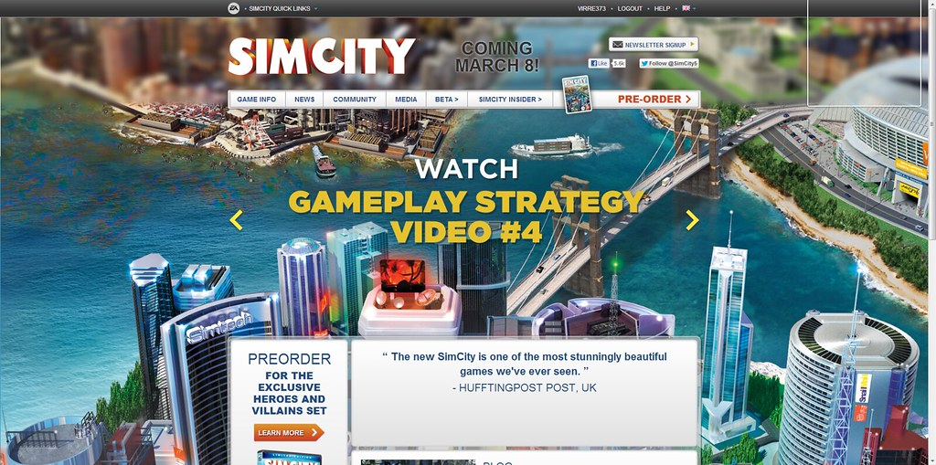 SimCity Official Website US