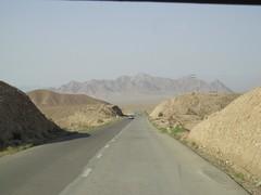 Paisagem na estrada perto de Kerman
