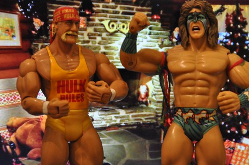 Hulk Hogan and Ultimate Warrior wish you a merry Christmas!