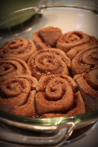 20121225. Making new (food-related) traditions - cinnamon buns.