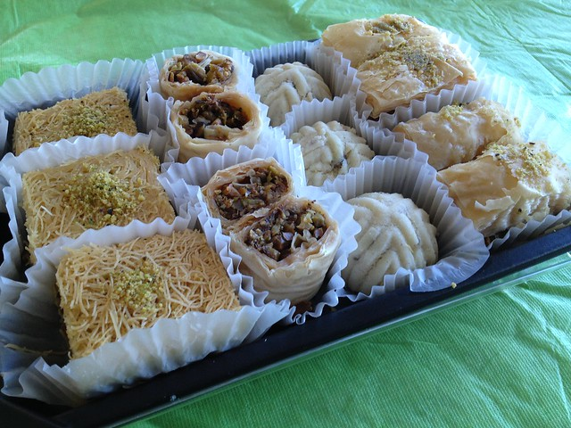 Assorted Turkish sweets