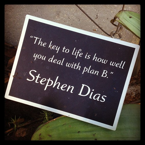 """""""The key to life is how well you deal with plan B."""""""