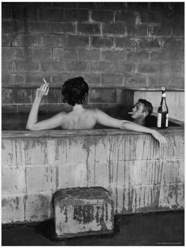 Steve McQueen in a Tub
