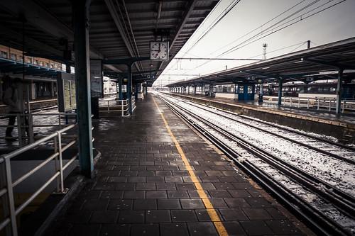Train Station Under the Snow (Mons, Belgique) - Photo : Gilderic