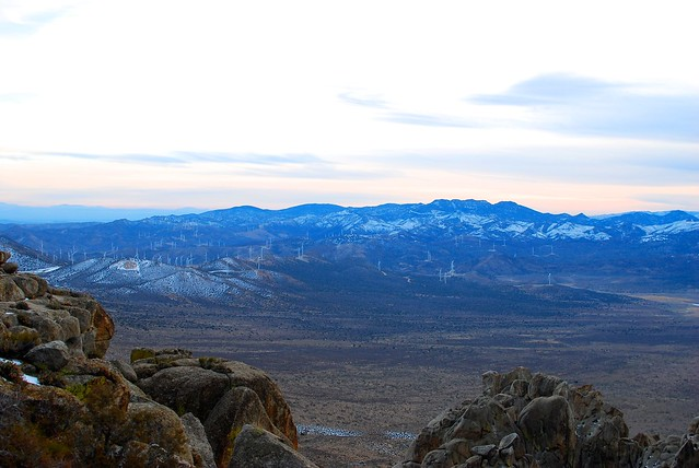 After sunset from the top of Walbrecht Peak