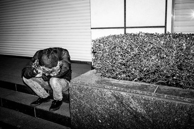 Man on step, Shibuya