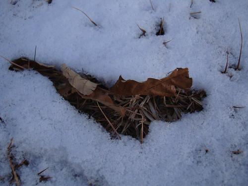 Schneereste in Gimhae