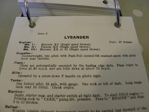 Lysander notes